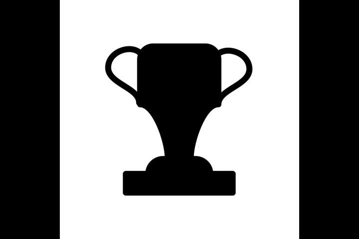 Trophy Achievement Symbol Line Flat Icon Vector Illustrati 850804 Icons Design Bundles In 2020 Flat Icon Hand Lettering Cards Design Bundles