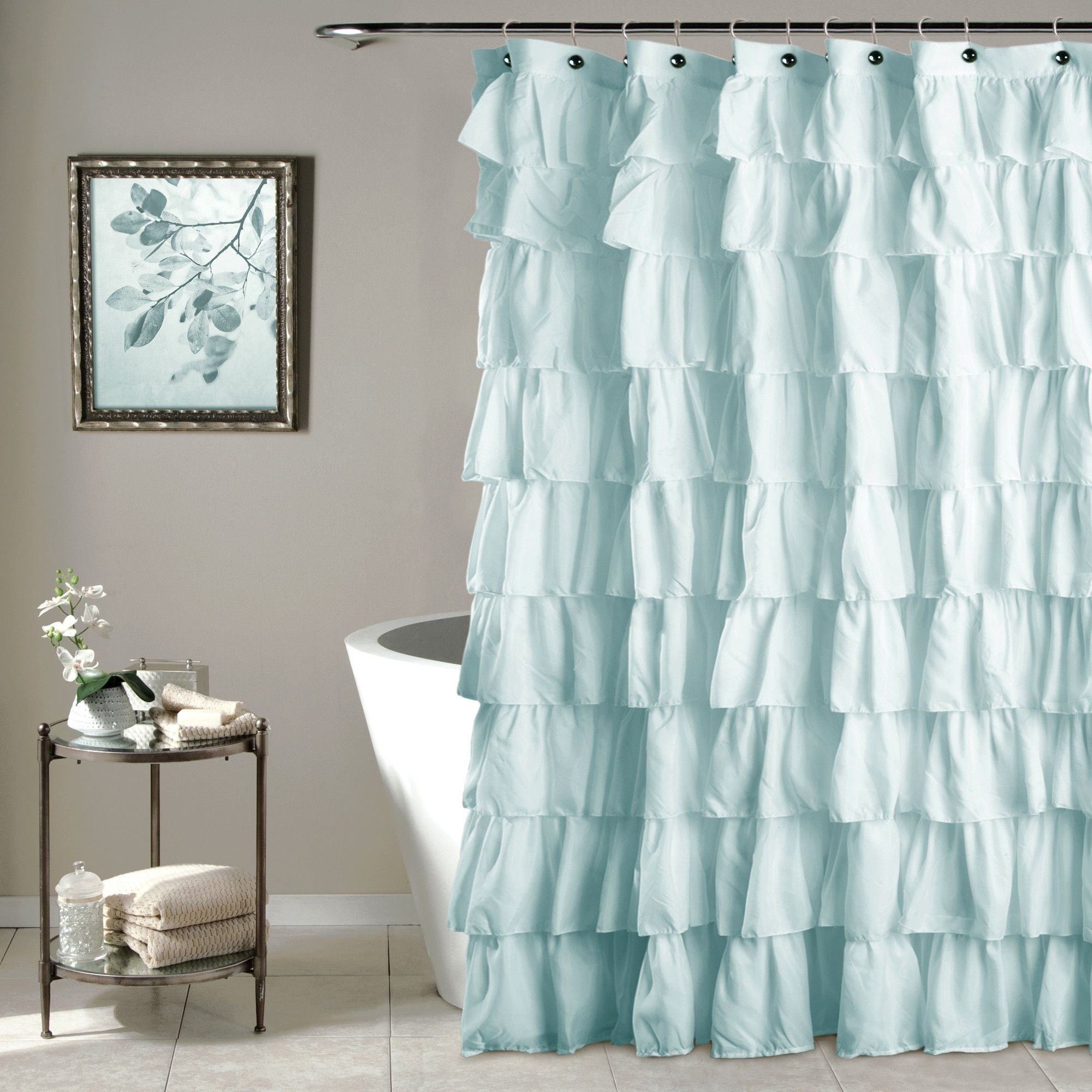 Ruffle Shower Curtain Ruffle Shower Curtains Curtains Shabby Chic Shower Curtain