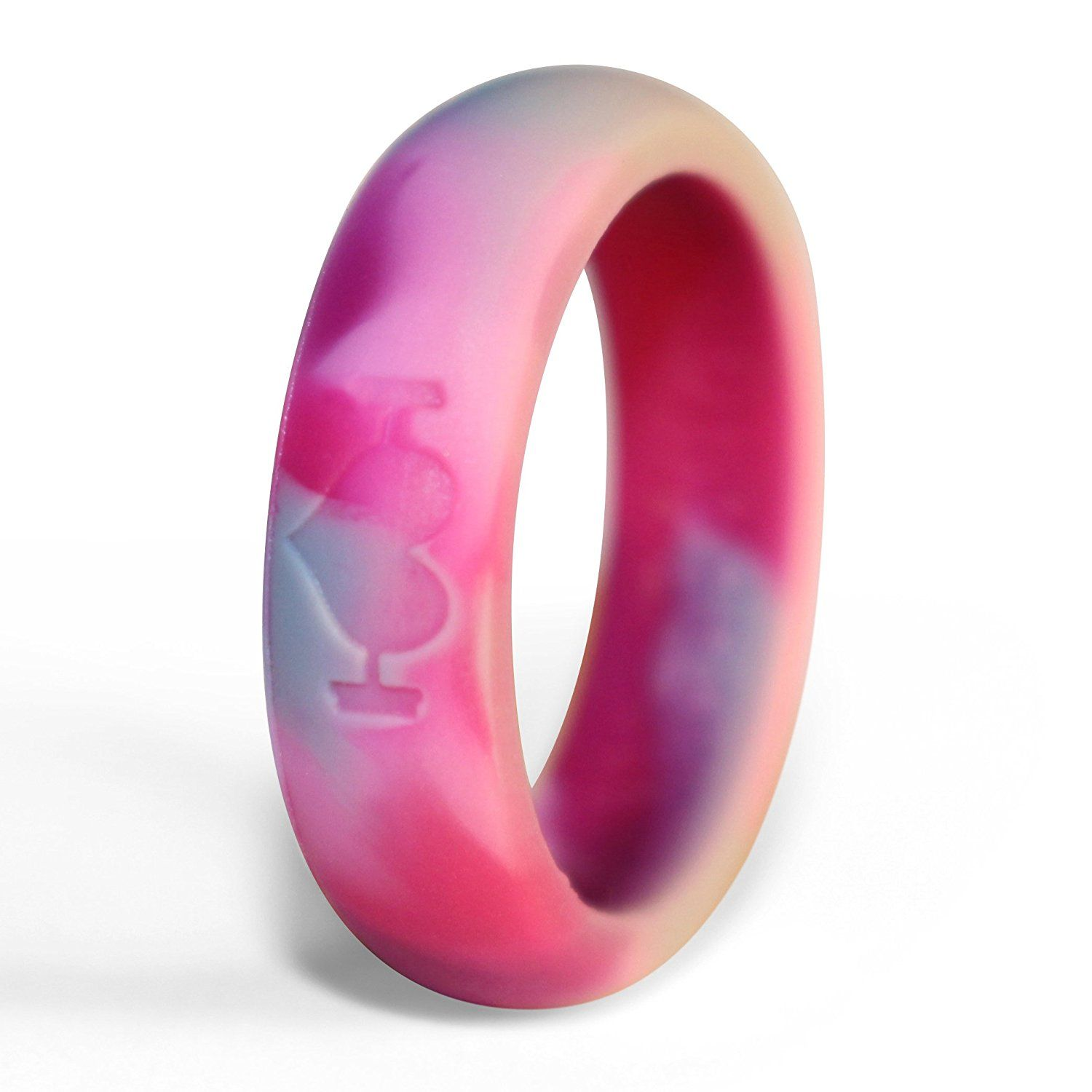 WodBottom - SILICONE WEDDING RINGS FOR WOMEN - Perfect for Active ...