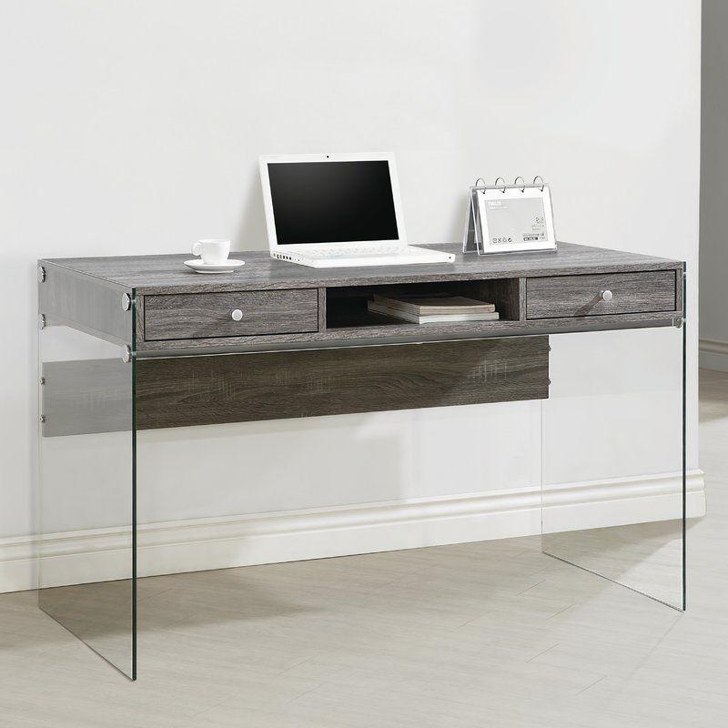 Eliana Desk Home Office Furniture Coaster Furniture Grey Office Furniture