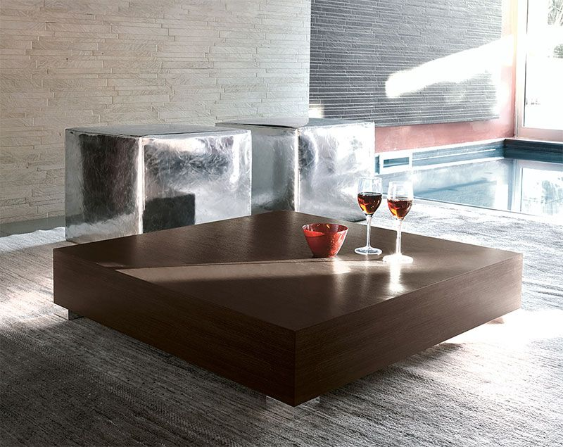 Superior Furniture Mind   Contemporary Furniture | Modern Furniture   Modern Unico  Stop Square Wood Coffee Table