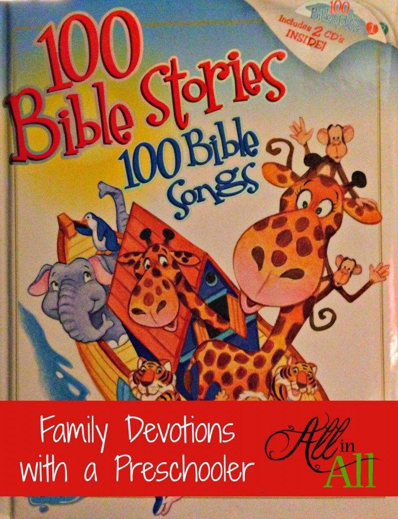 Family devotions with a preschooler family devotions