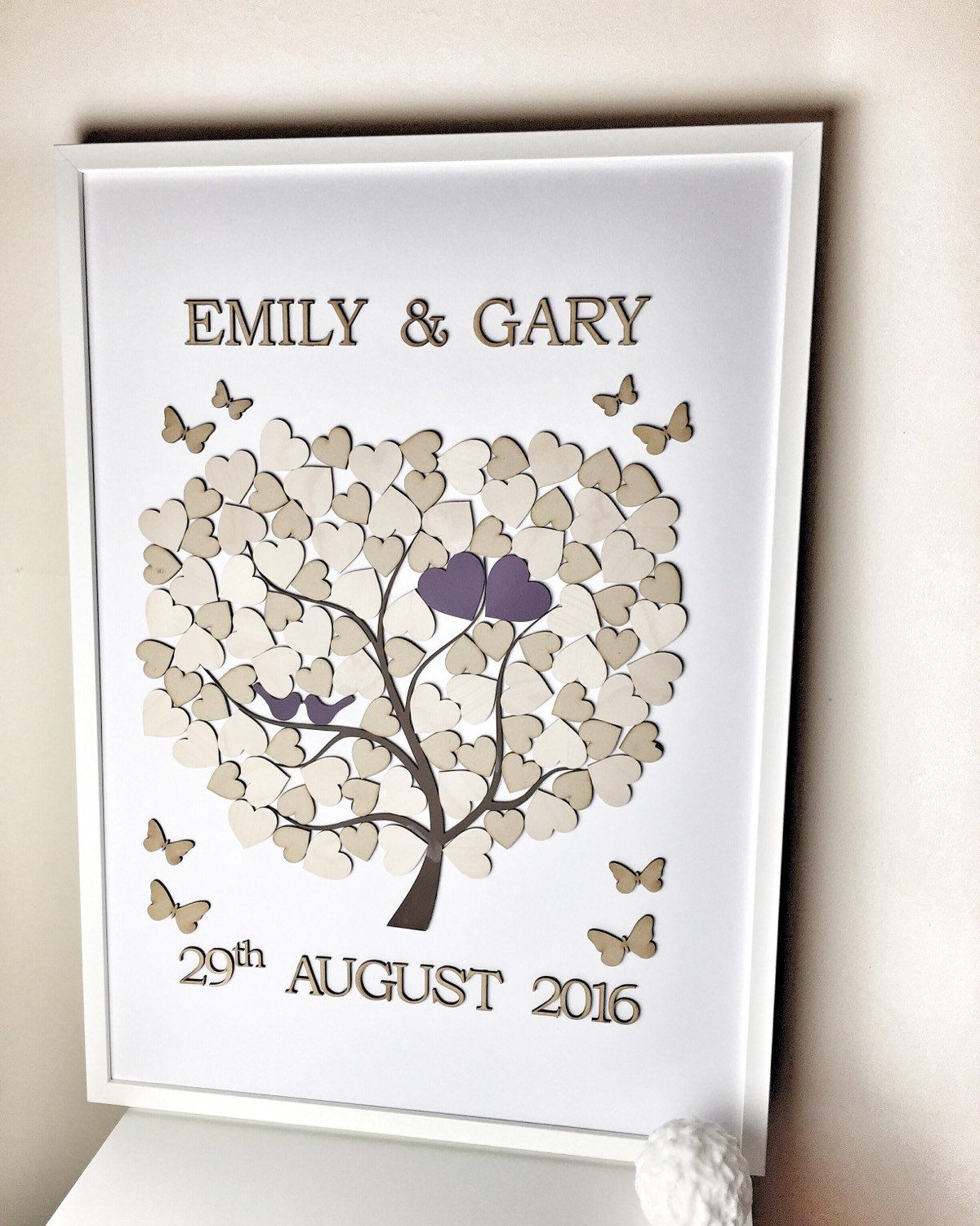 Wedding Guestbook alternative 100 heart guest book The guest book ...