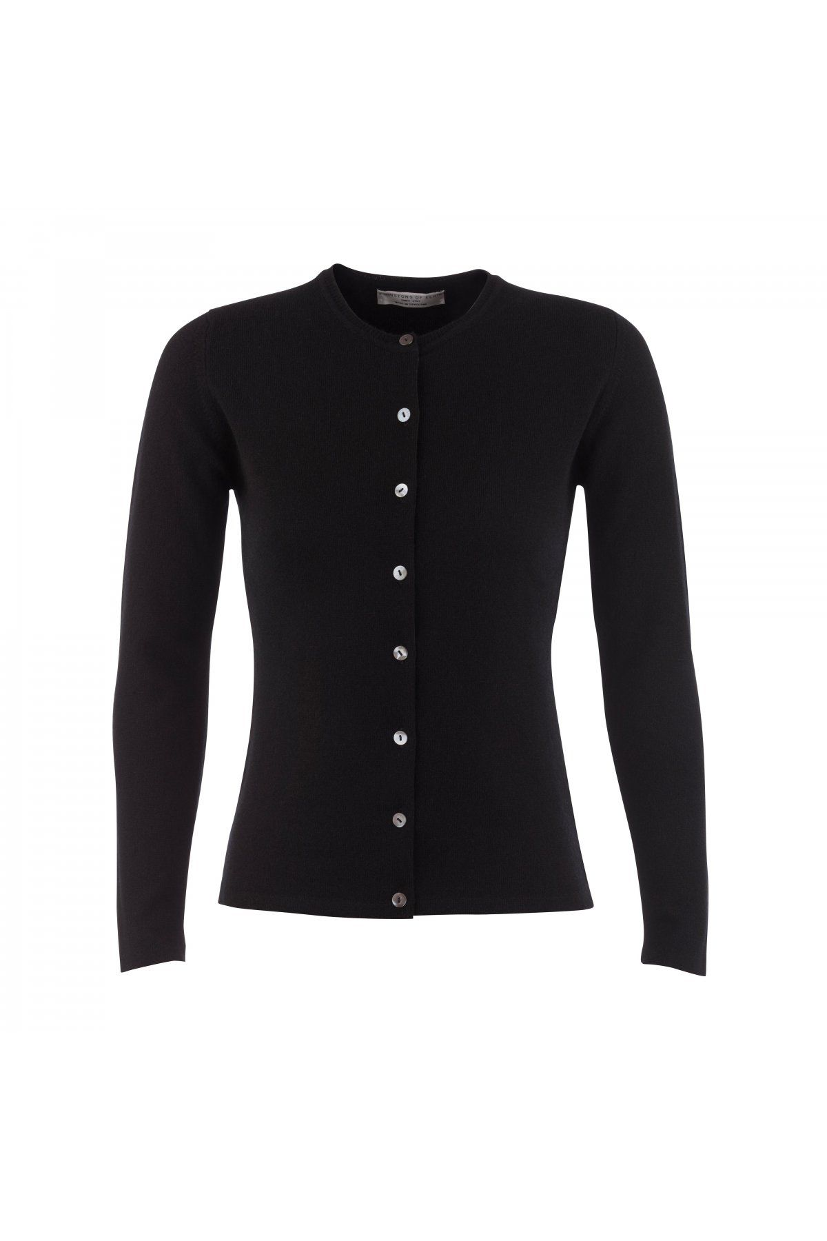 Cashmere Classic High Button Cardigan In Black | Cardigans For Men ...