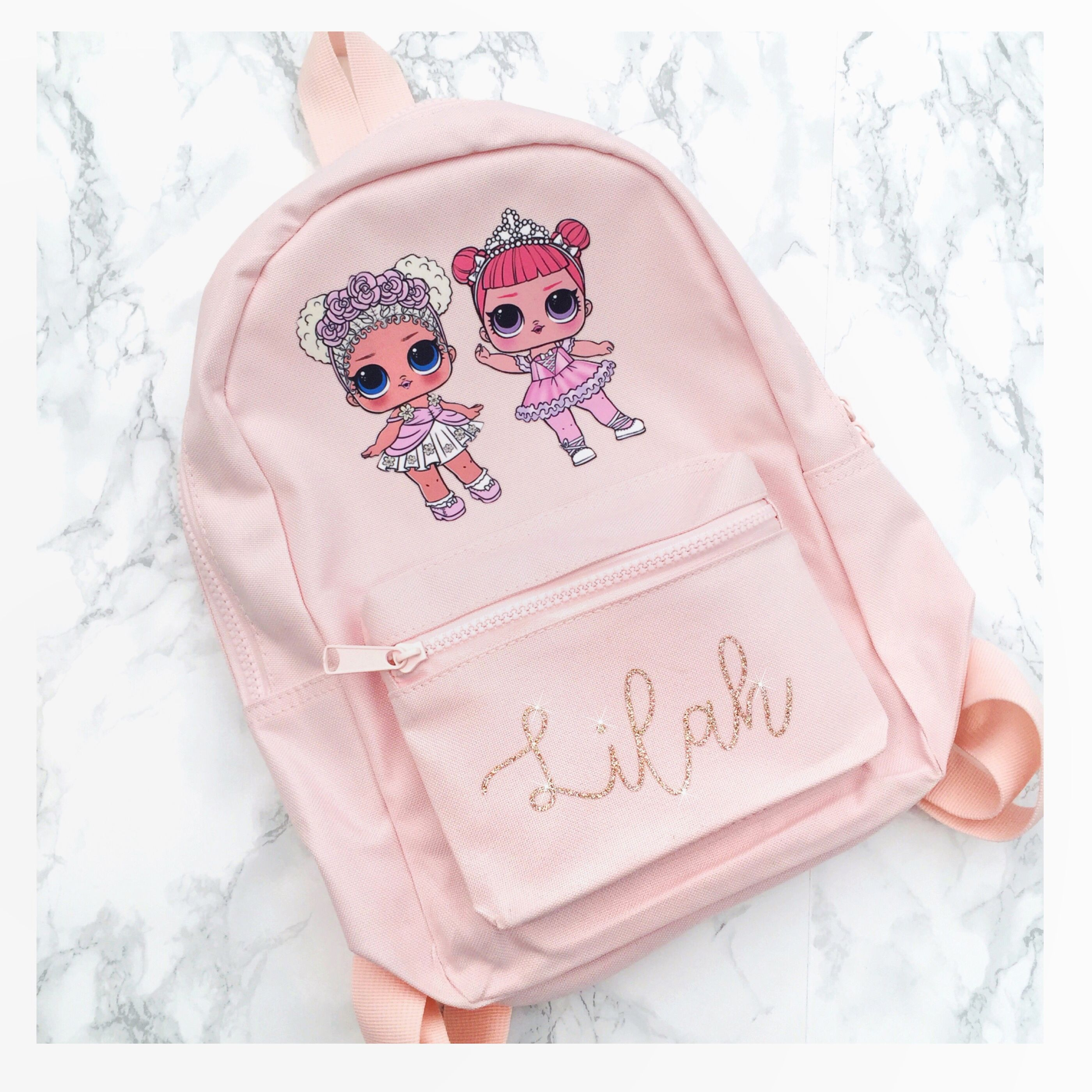 Custom Embroidered With Any Name Personalised Mini Fashion Backpack Girl Bow