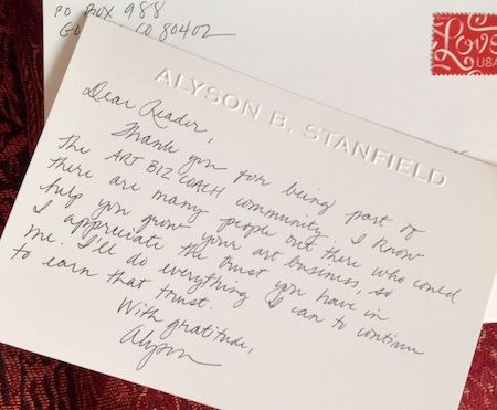 In Praise Of The Handwritten ThankYou Note By Alyson Stanfield