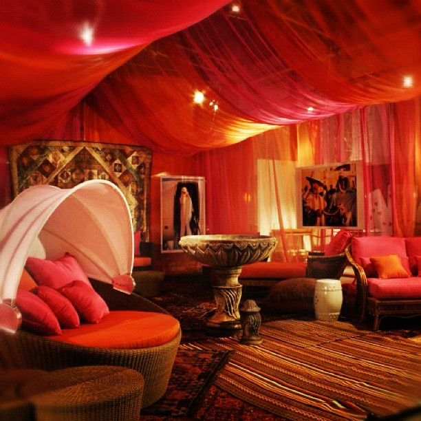 Beautiful bold draped fabric ceiling dramatic home for Spiritual bedroom designs