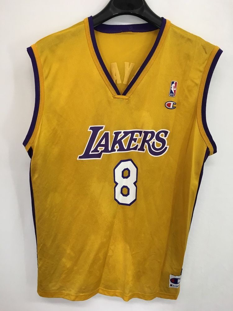 5eef5b674e5 MENS SIZE 48 KOBE BRYANT  8 LOS ANGELES LAKERS CHAMPION NBA JERSEY VINTAGE   Champion  LosAngelesLakers