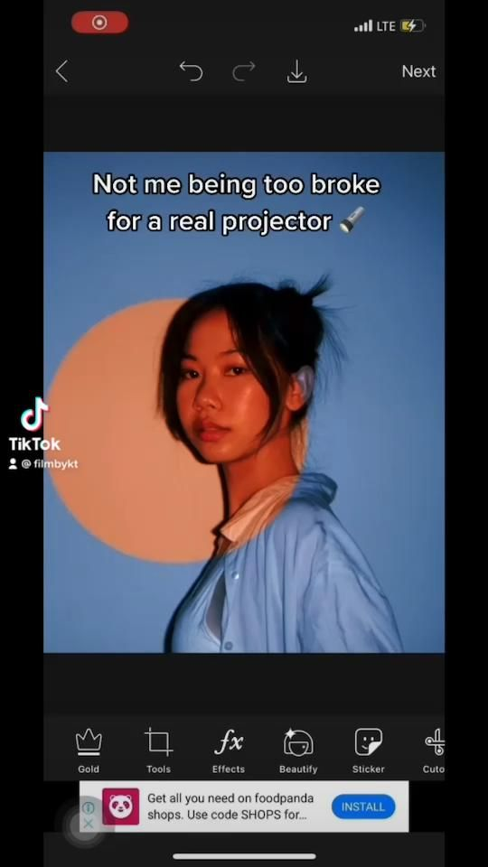 Projector photoshoot edit