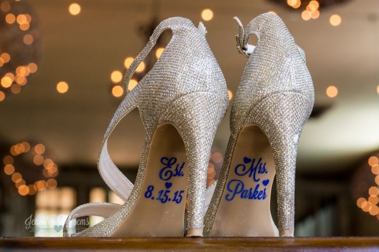 wedding shoes, Vista West Ranch Wedding, Vista West Ranch Photographer, Austin Wedding Photographer, Hill Country Wedding, purple, rustic, wedding dress, bride, groom, texas, Jennifer Weems Photography, wedding party, bridesmaid, groomsmen, old car