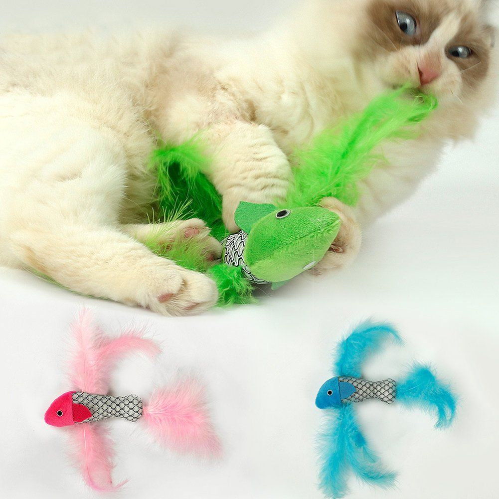 Yamalans Funny Pet Cat Biting Toy Fish Shape Catnip Teeth Cleaning