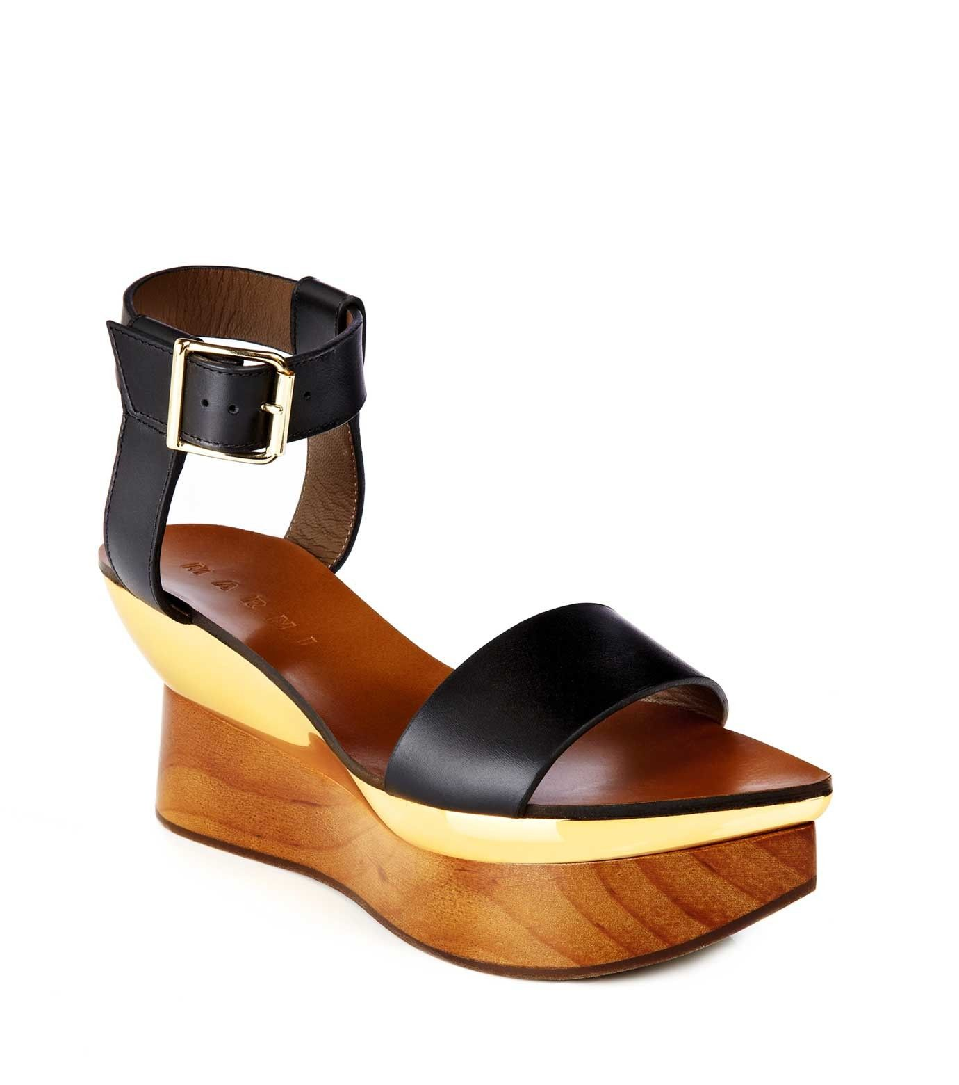 Marni curved sole wedge