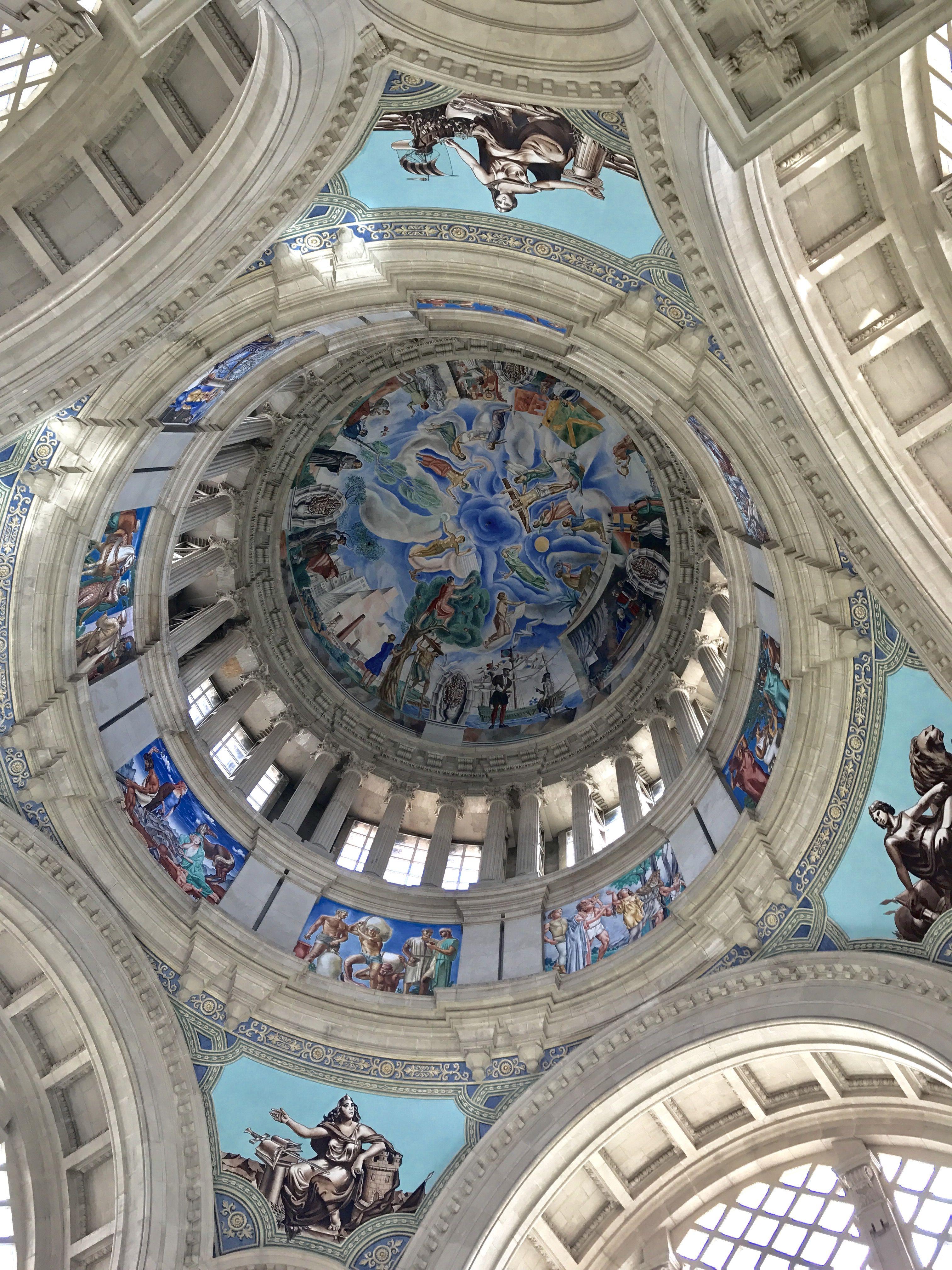 Dome from museu nacional dart de catalunya aerial