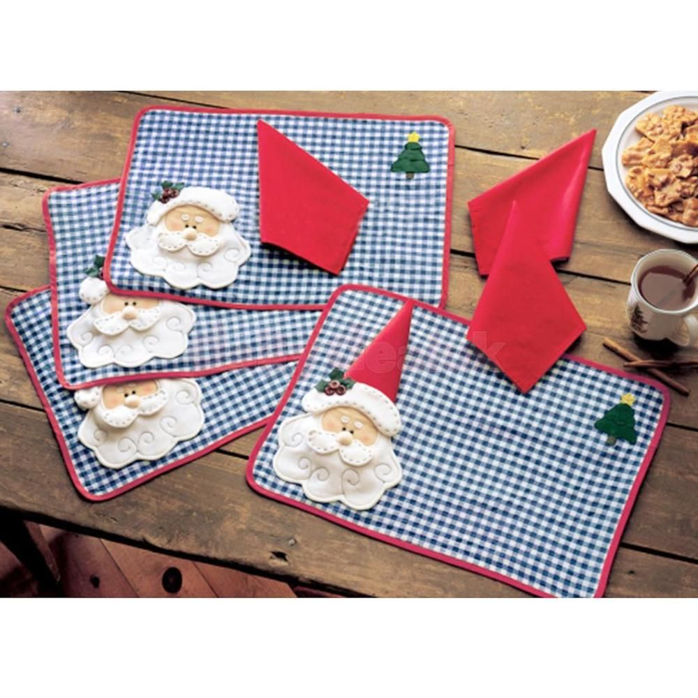 The Pattern Of This Placemat Is Santa Claus Placemat Size Approx 1 Piece Tableware Placem Christmas Placemats Christmas Sewing Christmas Table Decorations
