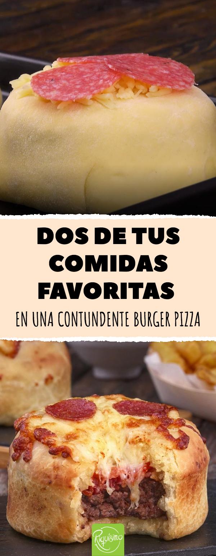 Dos de tus comidas favoritas en una contundente burger pizza