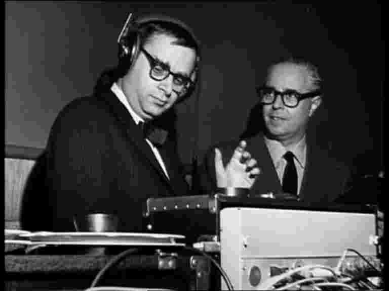 "Alfred Lion and Rudy Van Gelder; the genius that captured the legendary ""Blue Note Sound"" on tape. Van Gelder is a master engineer who recorded all of the classic Blue Note sessions and several for Verve, Prestige, Riverside & Impulse as well."