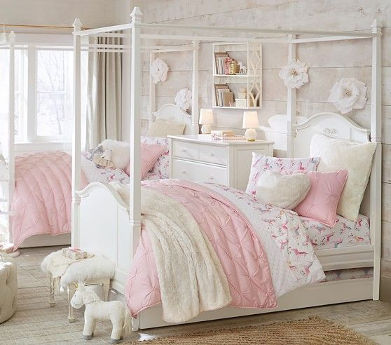 88cd5b8a205 Audrey Quilted Bedding #pbkids Girls Bedroom, Girl Rooms, Princess  Bedrooms, Little Girl