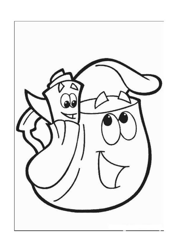 Dora The Explorer Online Coloring Pages Printable Book For Kids 36