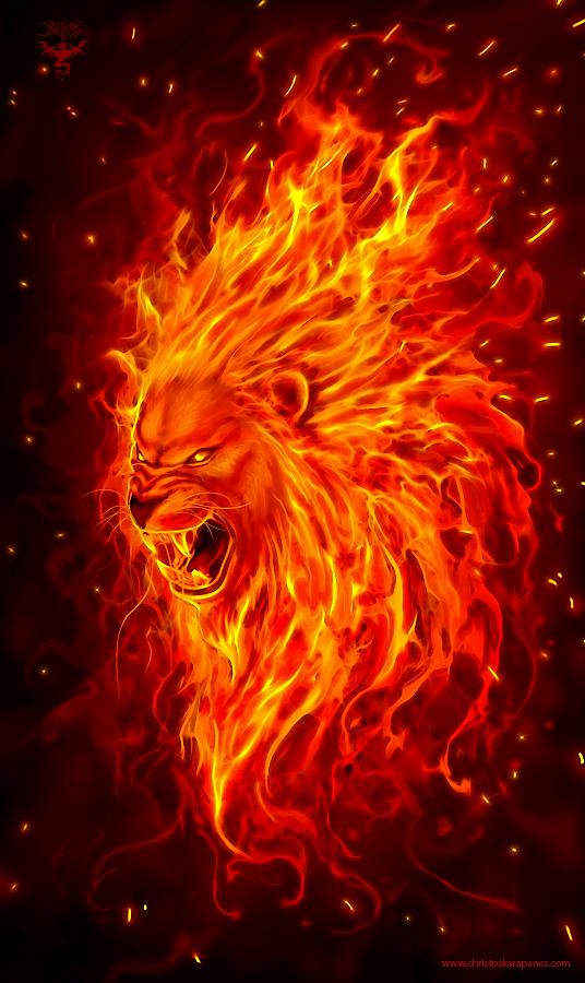 Just A Fire Lion Head The Artwork Is Available As Apparel Phone Cases Mugs Prints Here Www Designbyhumans Com Sh Lion Wallpaper Lion Live Wallpaper Lion Art