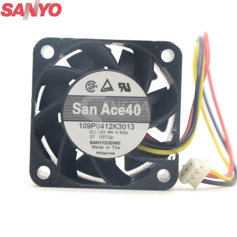 Sanyo 109p0412k3013 4cm 1u Server Fan 4028 12v 0 55a 40 40 28mm