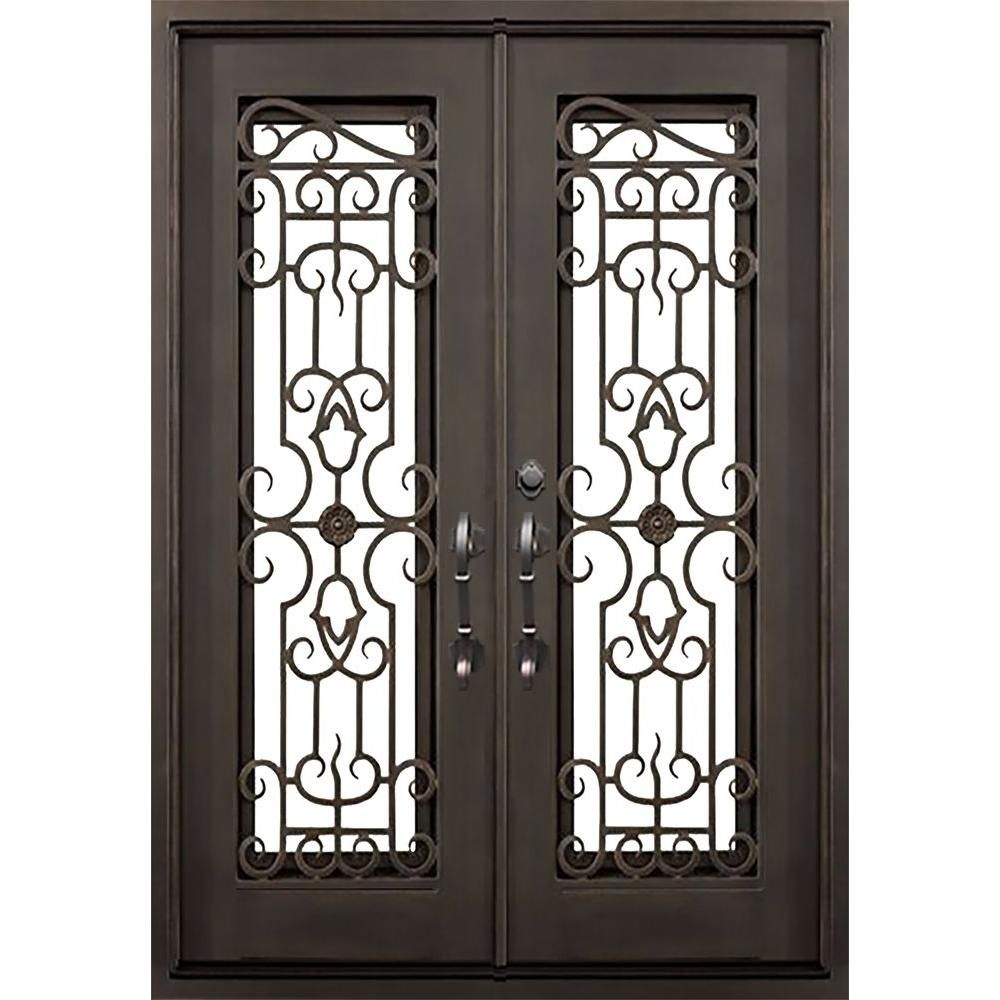 Florida Iron Doors Tampa Dark Bronze Classic Full Lite Painted Wrought Iron  Prehung Front Door Offers A Tremendous Look To Your Home.