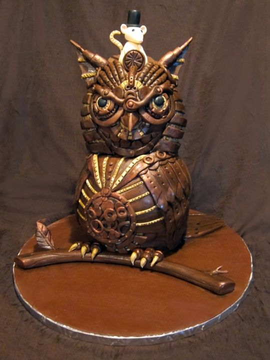 Owl cake of the day...Steampunk!