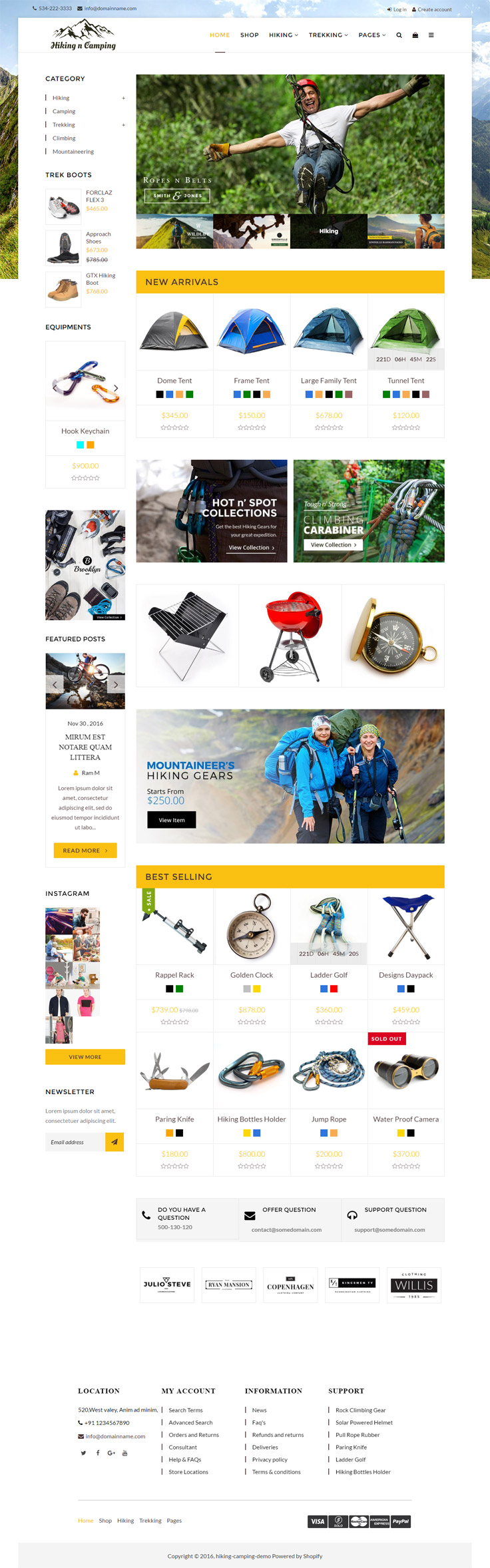 Hiking and Camping shopify theme Shopify theme, Outdoor