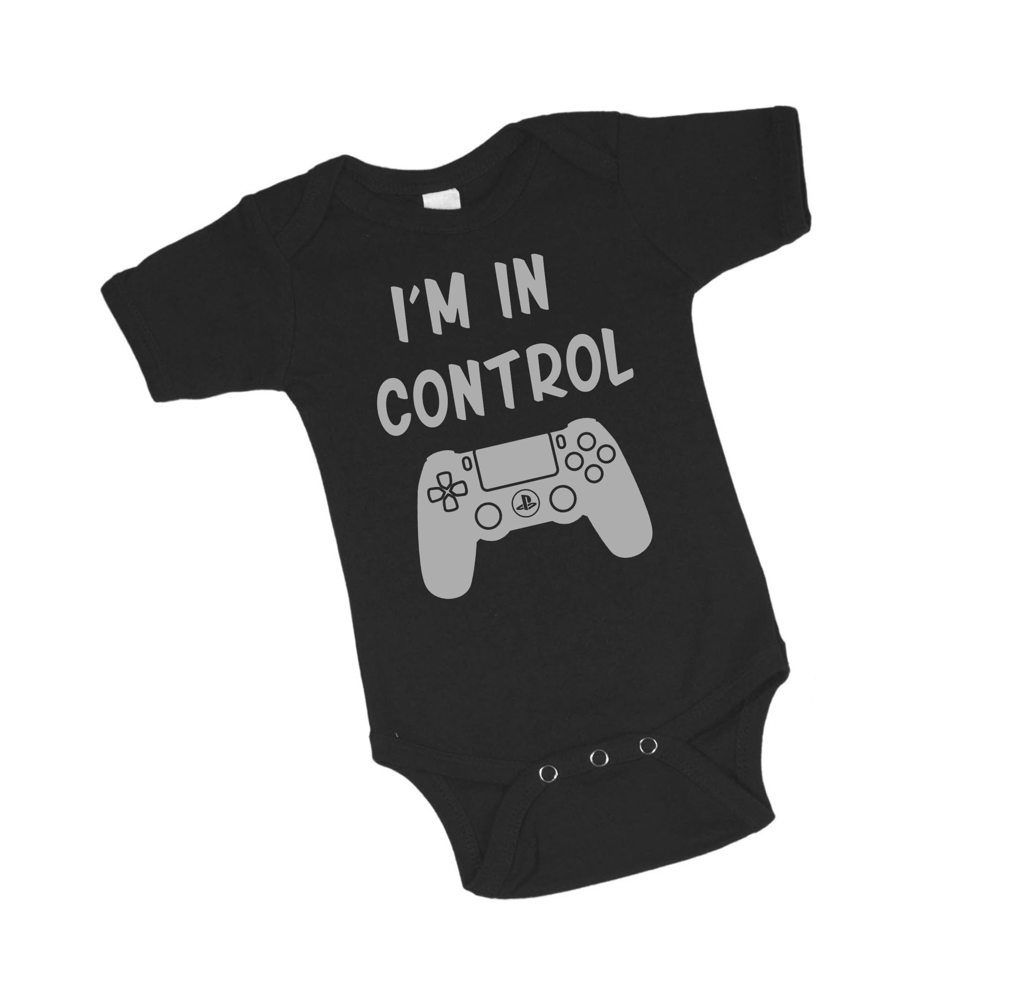 I m in Control Video Gamer Black Baby Bodysuit by Project Pinup $15