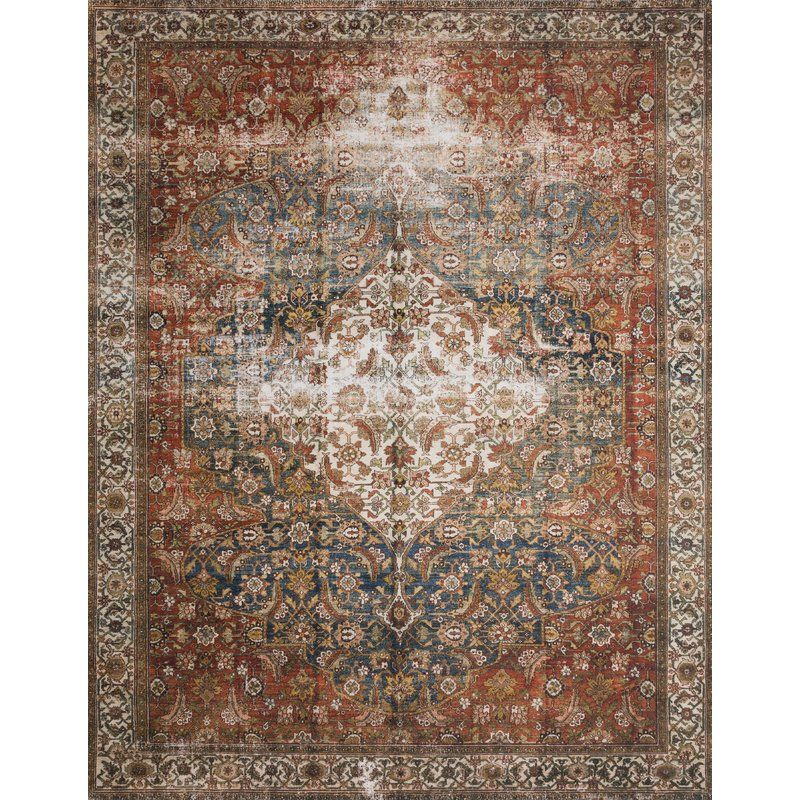 Brehmer Brown Orange Green Area Rug With Images Area Rugs