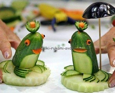 подделки из овощей. фото