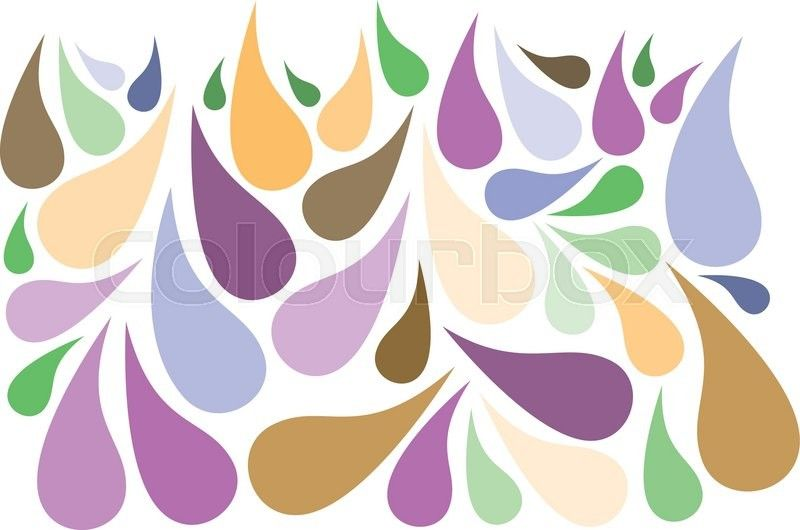 Stock vector of 'Drops of faded colours'