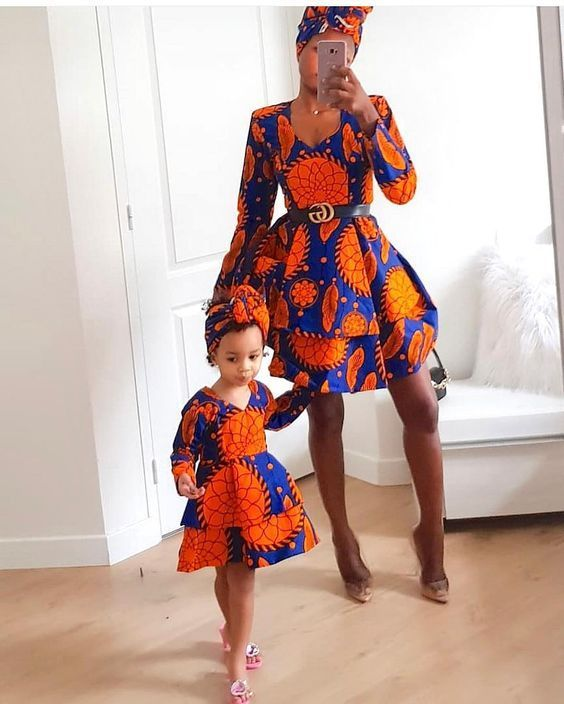 Matching Ankara Styles for Mothers and their Daughters - #africaine #Ankara #Daughters #matching #Mothers #styles #afrikanischekleidung