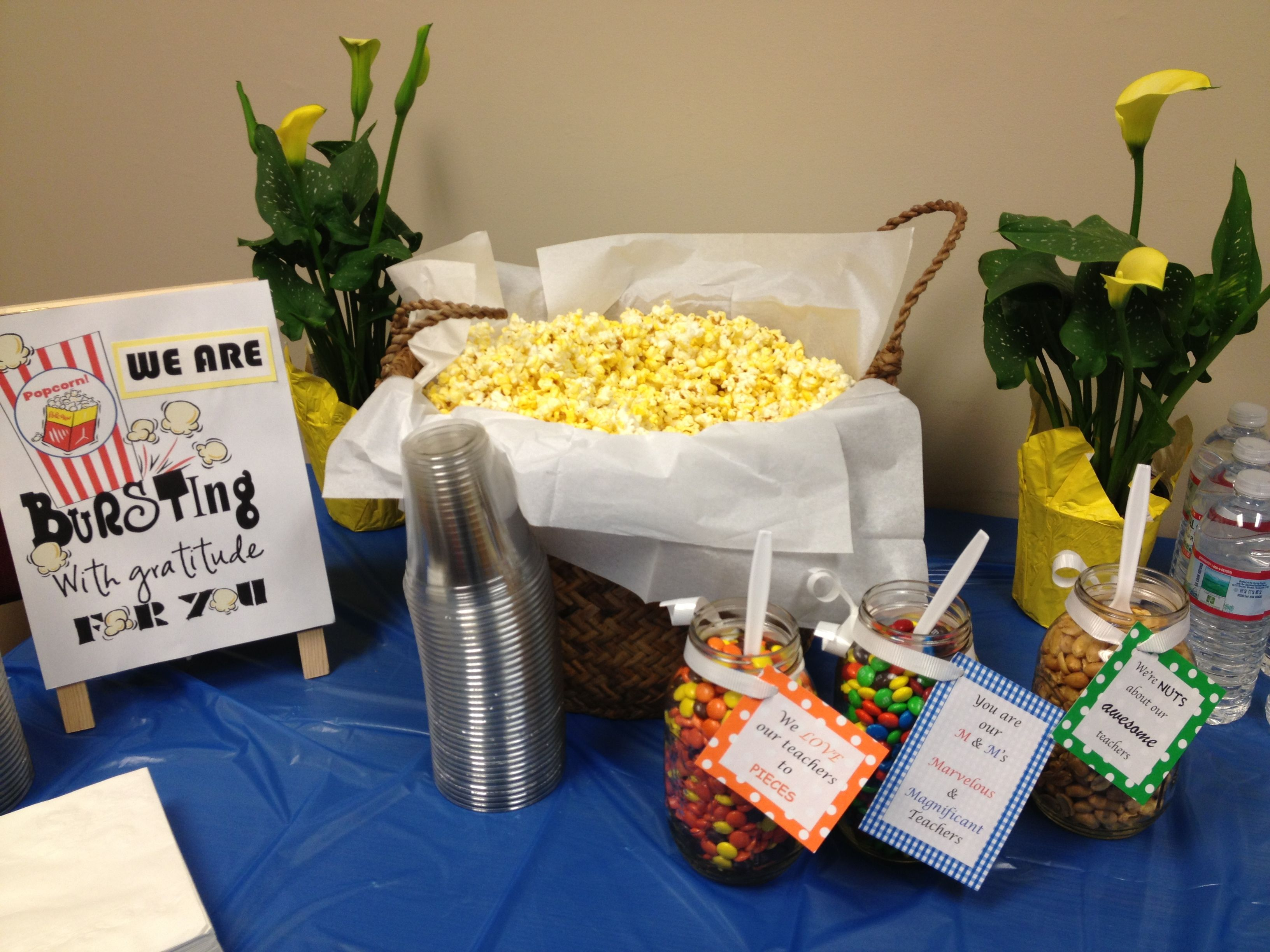 Popcorn Bar For Teacher Appreciation Week