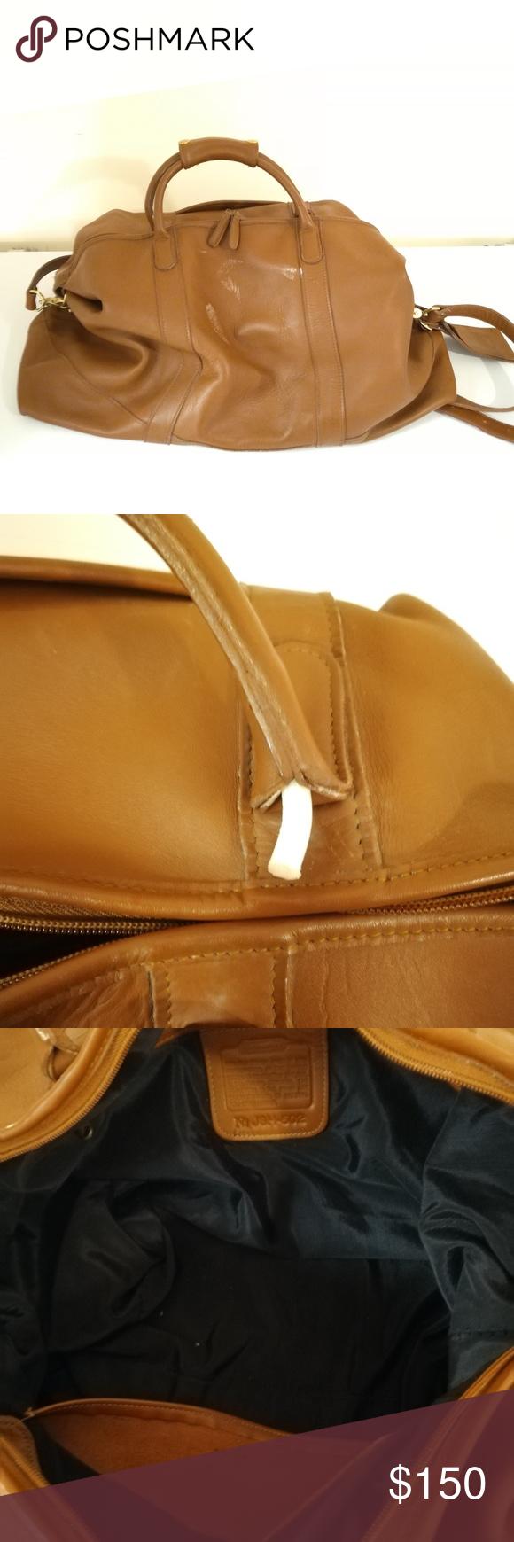 Vintage Coach Travel Bag Vintage Brown Leather Coach Travel Bag