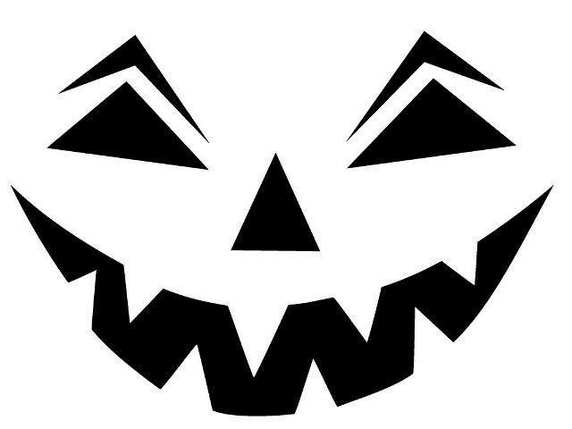 Трафарет для тыквы на хэллоуин распечатать. Тыква на ...