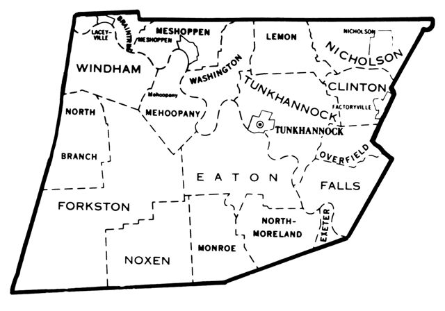 Wyoming County Township Map Family History Heritage Pinterest - Wyoming county maps