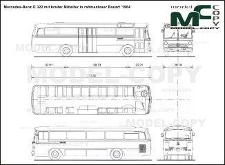 Mercedes benz o 322 mit breiter mitteltur in rahmenloser bauart mercedes benz o 322 mit breiter mitteltur in rahmenloser bauart 1964 blueprints malvernweather Image collections