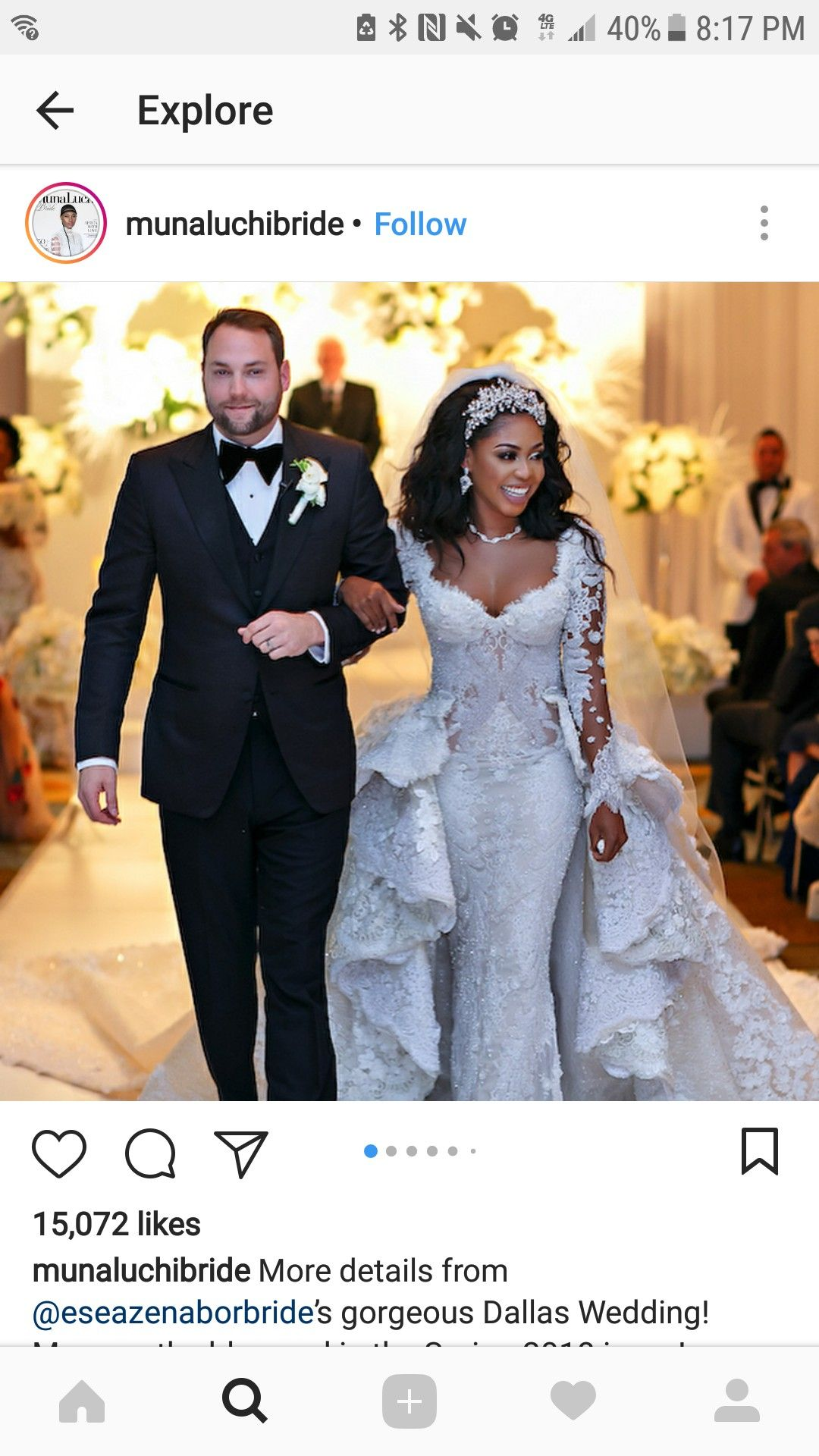 Gucci mane wife wedding dress  Beautiful interracial couple gets married  Happily Ever After