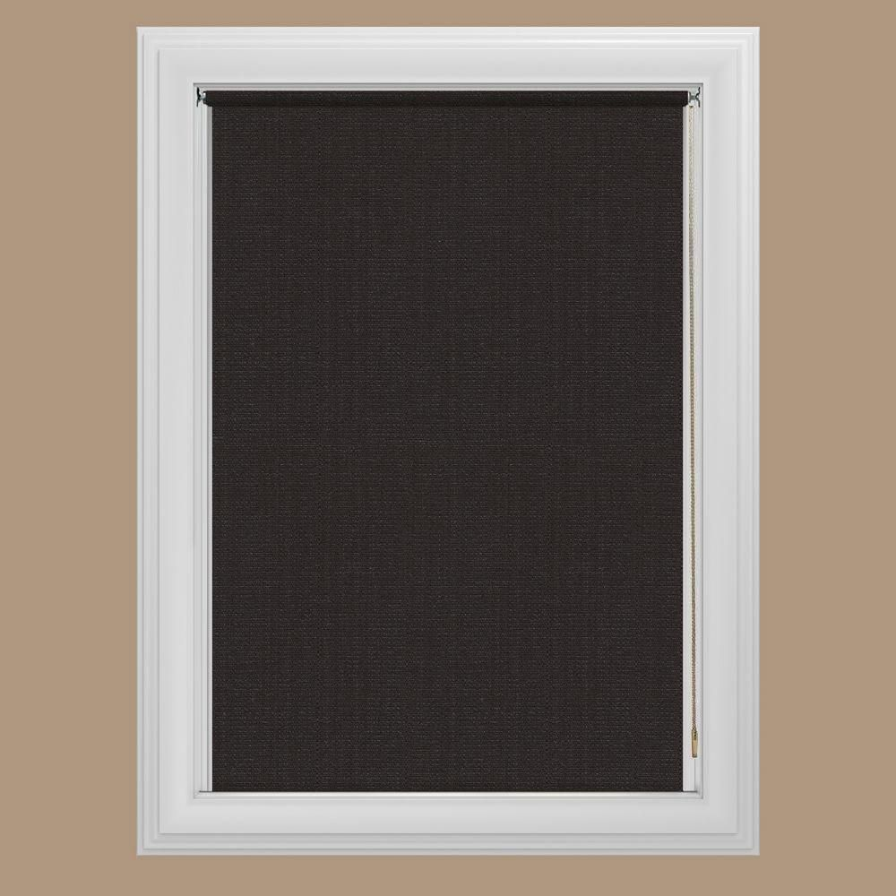 Bali Cut To Size Java Blackout Fabric Roller Shade 60 In W X 72