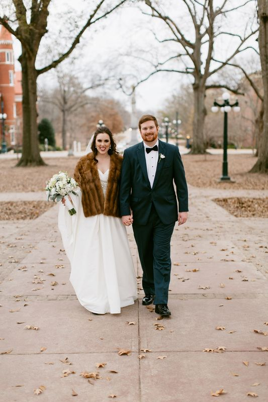 Vintage Fur Stole - Winter Wedding - B. Flint Photography (http://bflint.com/) - featured on inspirationms.com