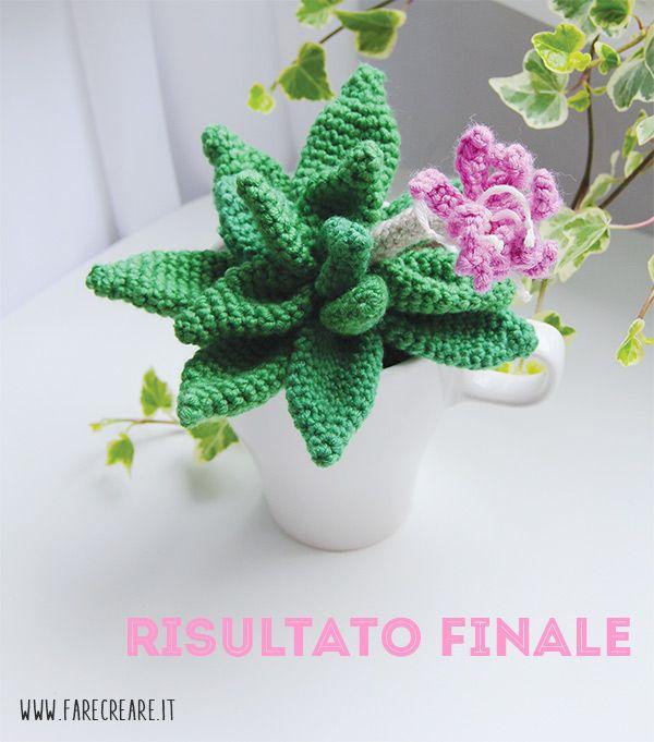 Scuola Di Amigurumi La Pianta Grassa A Uncinetto Con Fiore Rosa Tutorial Per Fiore All Uncinetto Uncinetto Piante Grasse