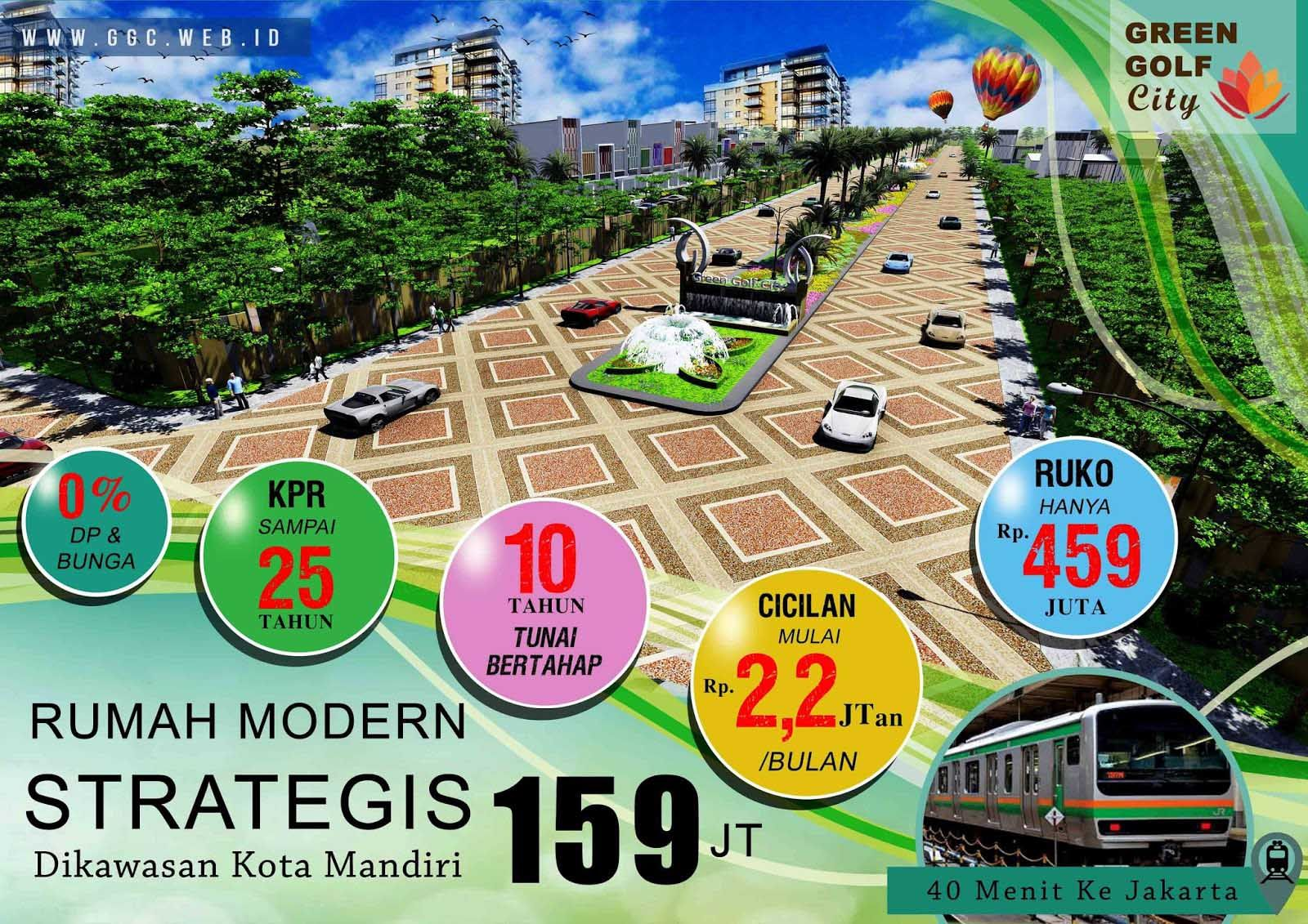 Rumah Green Golf City Tangreang Berlokasi strategis