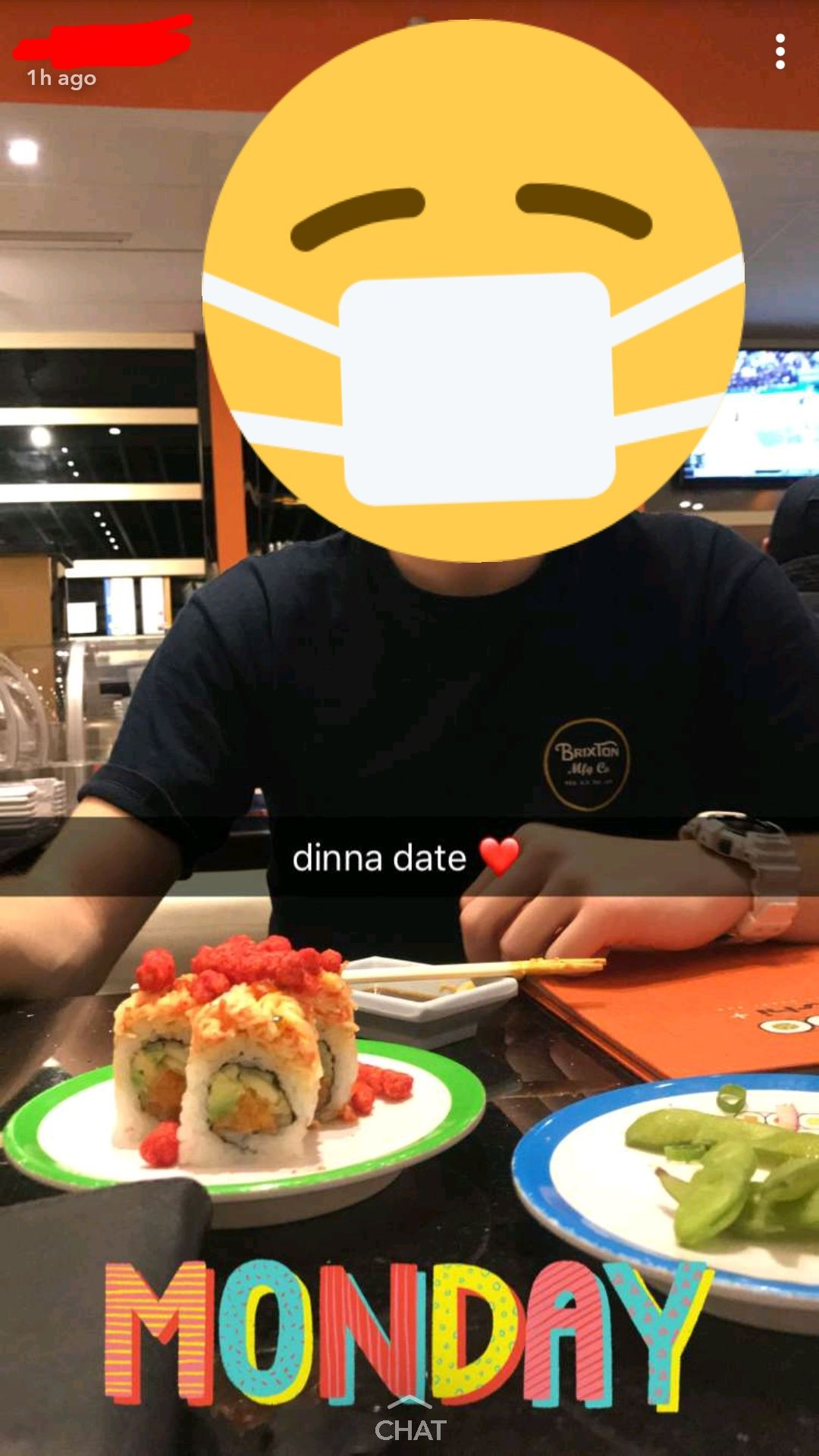 Spotted this sushi with cheetos on my friends Snapchat