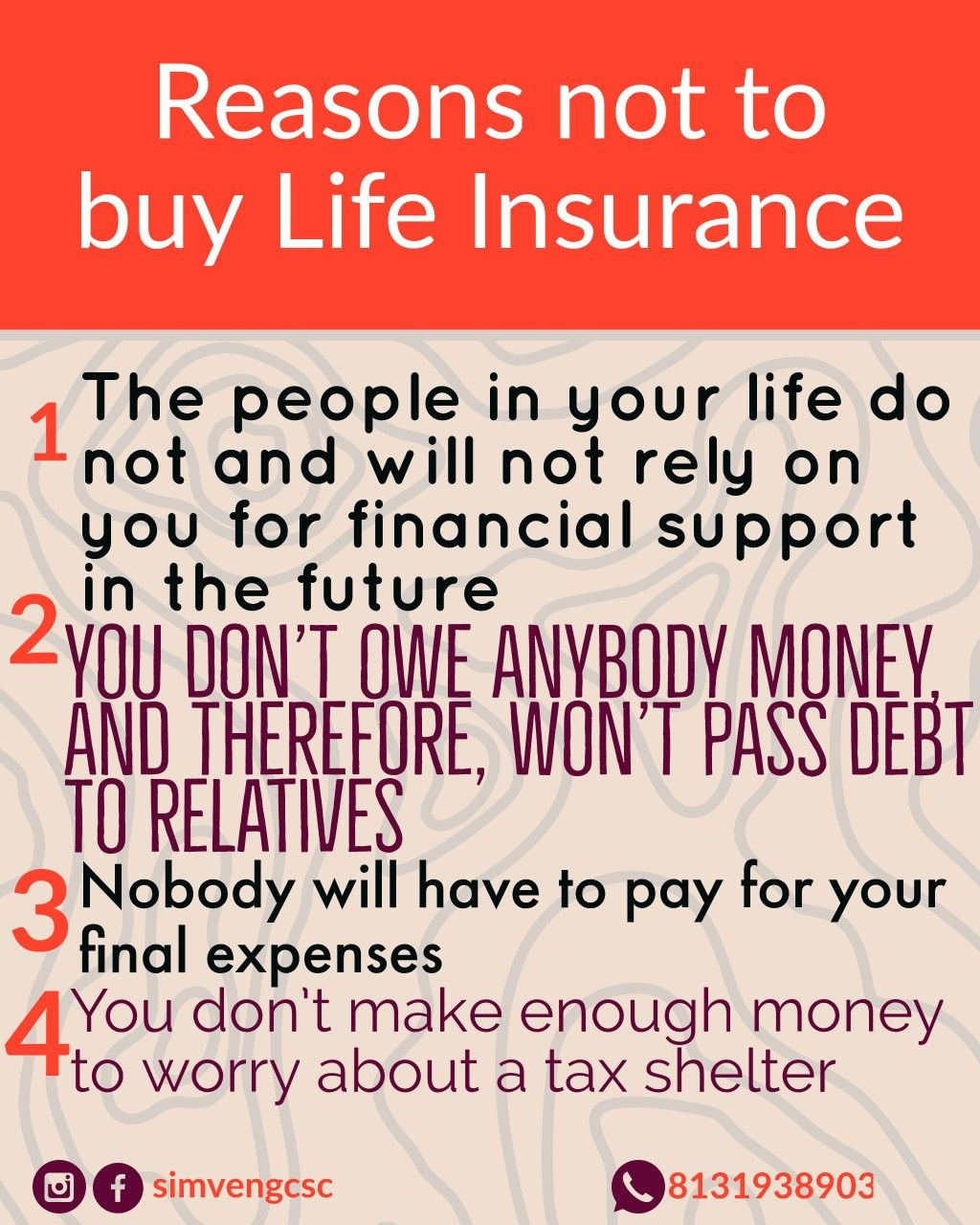 What Is Your Reason For Not Buying A Life Insurance Life Insurance Facts Life Insurance Quotes Life Insurance