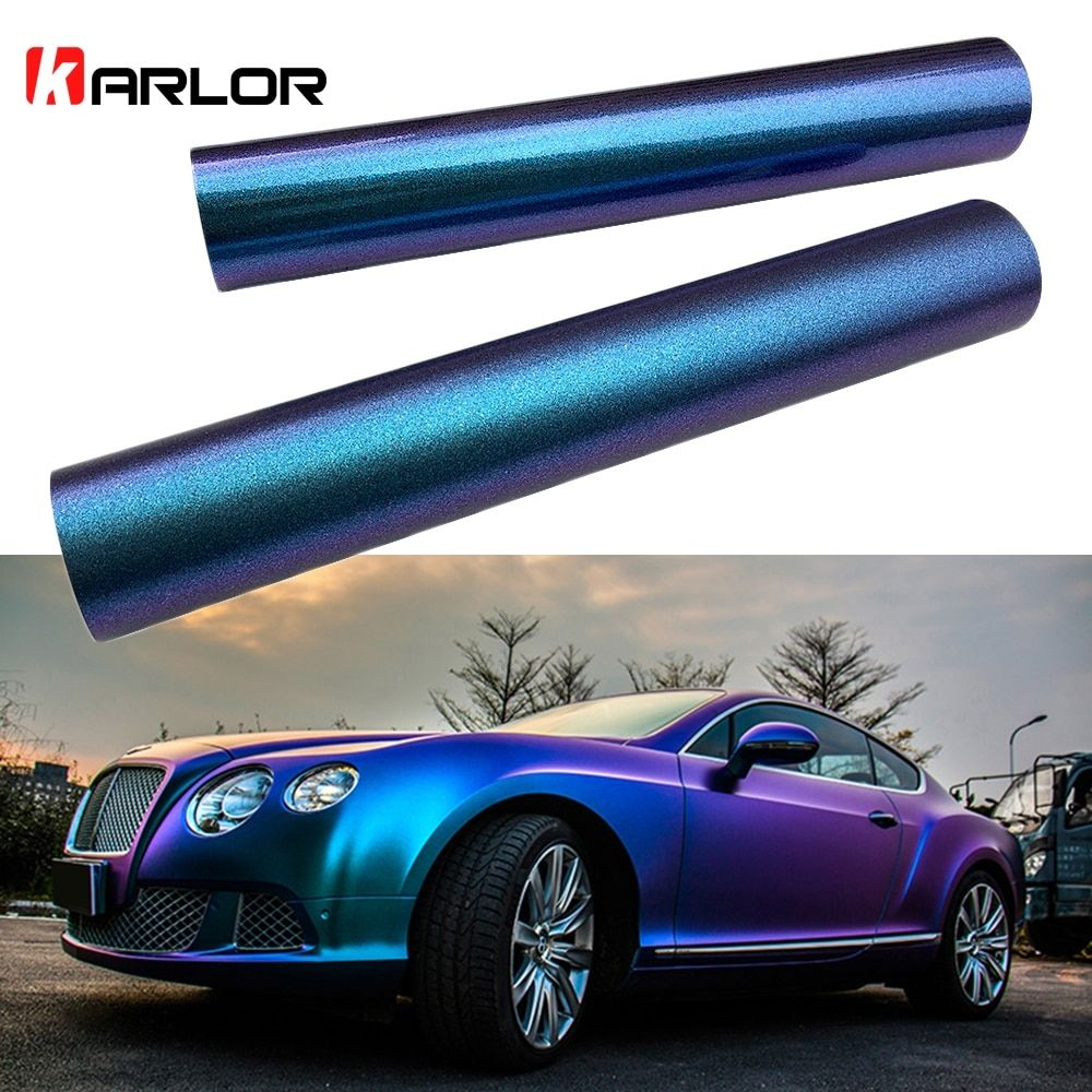 Introducing our lastest 10*100cm Car Blue to Purple Pearl