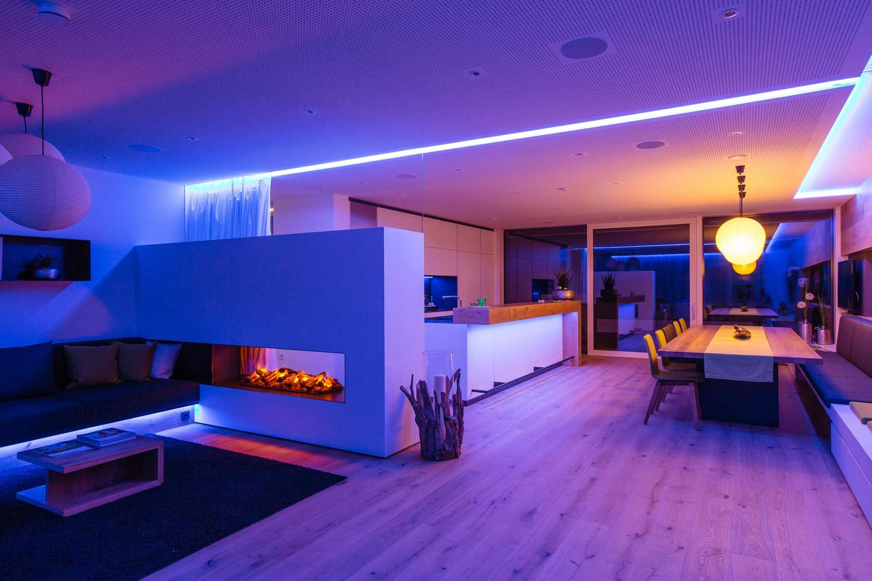 Blog How To Create Ambient Lighting In Your Home Loxone Mood Lighting Bedroom Led Lighting Home Mood Lighting Living Room