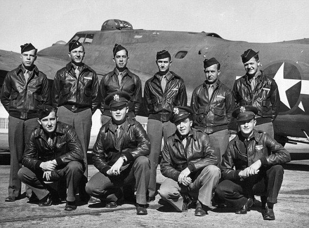 The crew of the B-17F - nicknamed Ye Olde Pub - that took off on a cold, overcast winter day in Britain to target an FW-190 factory at Bremen, Germany. That mission on December 20, 1943, was 2nd Lt. Charles L. Brown's first combat mission as an aircraft commander with the 379th Bomb Group.