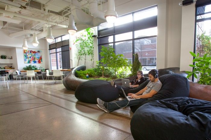 Quick lefts healthy and productive warehouse offices greenery light control and comfy seating