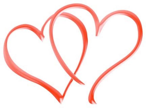 Red Double Heart Clip Art Clipartfest Heart Clip Art Clip Art Free Clip Art