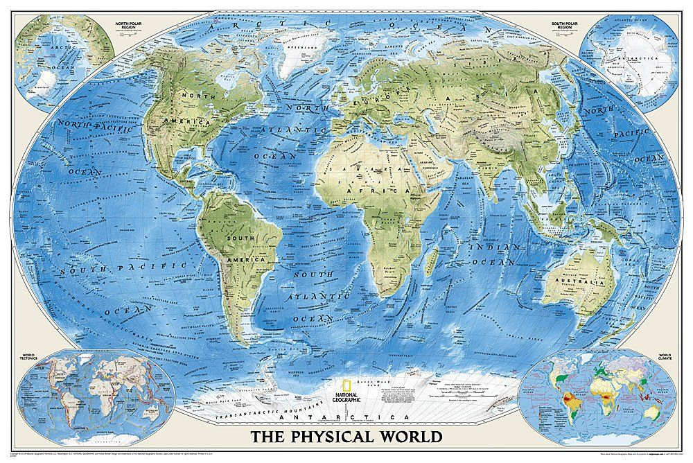 World physical enlarged and laminated by national geographic maps world physical enlarged and laminated by national geographic maps gumiabroncs Choice Image